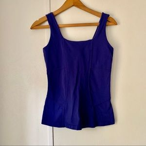 Athleta Tops - Athleta Blue Fitted Athletic Tank Top